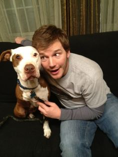 Chris Pratt Andy Dwyer and Champion- Parks and Rec please follow me,thank you i will refollow you later