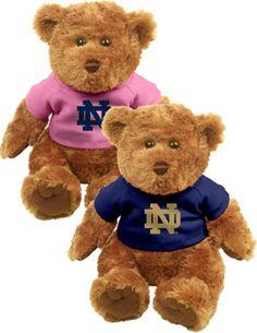 MCM GROUP INC/MIDWEST COLLEGE MKT : K1110H Notre Dame Plush Bear : Hammes Notre Dame Bookstore : www.nd.bkstr.com