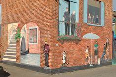 Back alley mural. Kamloops, BC
