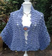 Produccion de tejidos a crochet: CHAL CORTO
