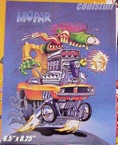 "Rat Fink Car Art by Rat Fink Ed ""Big Daddy"" Roth."