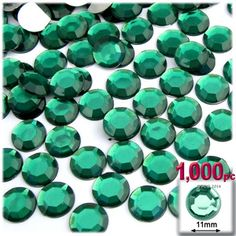 6x8mm Small Emerald Faceted Acrylic Crystal Rhinestone Embellishments Decoden
