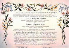 Beautiful marriage certificate