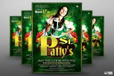 Saint Patricks Day Flyer Template V3 by Thats Design Store on @creativemarket