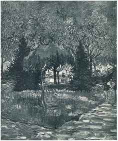 Vincent van Gogh Park at Arles with the Entrance Seen through the Trees, The Painting