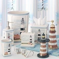 Our bedroom and bathroom will be decorated with my huge collection of lighthouse stuff, as well as dolphins , ships, shells, knots, and my driftwood collection..
