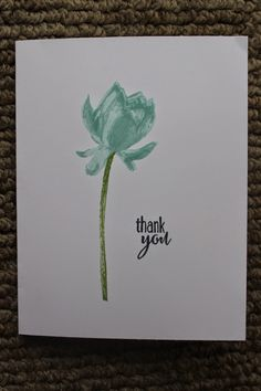 Naptime is Stamptime: Simple & Pretty Lotus Blossom Stampin' Up