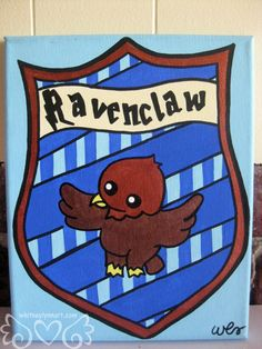 Harry Potter Ravenclaw House Crest 8x10 by whitneylynnart on Etsy, $65.00