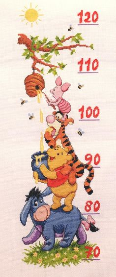 Cross Stitching, Cross Stitch Embroidery, Cross Stitch Patterns, Cross Stitch Baby, Cross Stitch Flowers, Crochet Baby Mobiles, Winne The Pooh, Pooh Bear, Baby Boy Gifts
