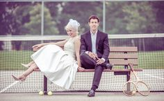 Weddings & Engagements: A Vintage Tennis Themed Photoshoot