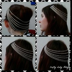 #DIY Hair Jewelry Tutorial. #headpiece #headdress #body_armor
