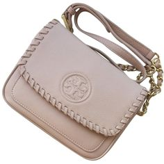 Pre-owned Tory Burch New Marion Mini Shoulder Bag (£185) ❤ liked on Polyvore featuring bags, handbags, shoulder bags, none, mini handbags, mini shoulder bag, mini purse, brown handbags and brown shoulder bag