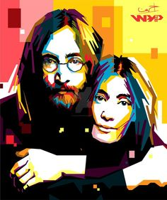 John Lennon And Yuko Ono in WPAP by ihsanulhakim on DeviantArt