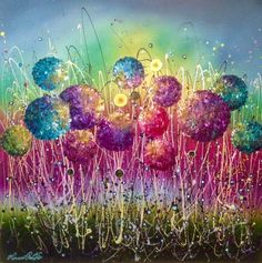 "Leanne Christie on Twitter: ""Leanne Christie #rainbow #alliums #original #oilpainting @Bucksfineart #spring #collection https://t.co/36H62LKTlF""♥•♥•♥"