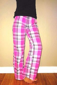Victorias Secret VS PINK sexy plaid burst womens lounge pants surf ...