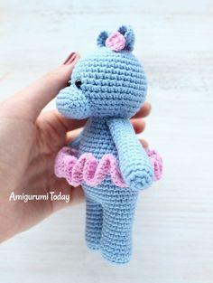 Cuddle Me Hippo - Free amigurumi pattern
