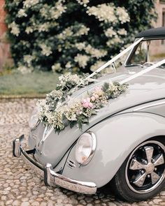 My kind of wedding car.This beautiful vintage green beetle on location Hall supplied by and available for weddings… Marie's Wedding, Wedding Photos, Dream Wedding, Wedding Ideas, Wedding Getaway Car, Green Beetle, Bridal Car, Wedding Car Decorations, Wedding Transportation