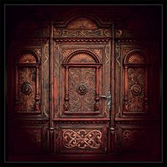 Beautiful wall carvings, hidden door