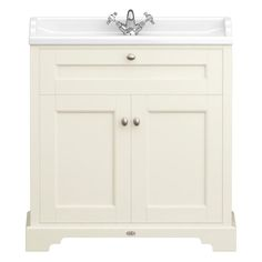Downton Abbey Traditional 1TH Vanity Unit (800mm Wide - Ivory) - Victorian Plumbing.co.uk