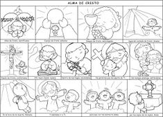 Dibujos para catequesis: ALMA DE CRISTO