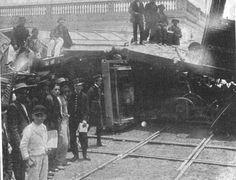 Accidente choque de tranvías 1910-10-29