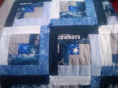 HandTied Dallas Cowboys Baby Quilt by SandisQuilts on Etsy, $30.00