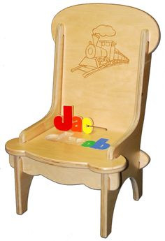 1000 images about personalized name stools on pinterest for Kids chair with name