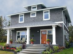 The Elm from Bungalow Company.  A colonial - craftsman compromise.