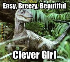 Cover Girl and Jurassic Park