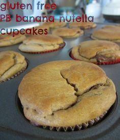 PB Banana and nutella, gluten free cupcakes