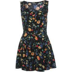 8cc043502fb Miss Selfridge Petites Floral Print Playsuit ( 30) ❤ liked on Polyvore  featuring jumpsuits