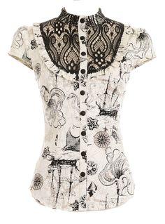 New Arrivals - Deep Sea Odyssey Victorian Shirt by Jawbreaker Clothing Clothing Victorian Shirt, Victorian Lace, Victorian Steampunk, Steampunk Clock, Steampunk Clothing, Steampunk Fashion, Gothic Fashion, Victorian Fashion, 2000s Clothing