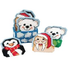 Craftways® North Pole Pals Coasters with Holder Plastic Canvas Kit Was: $16.00                     Now: $12.99