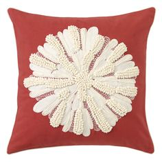 Asters Pillow in red is a new color for Spring 2015! @pantonecolor Design 2015ColoroftheYear Marsala