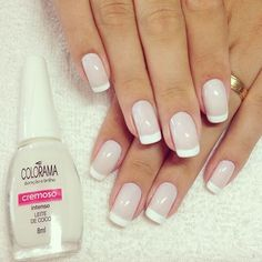 Que lindeza! by by dicasdeunhas Que lindeza! by by dicasdeunhas Shellac Nails, Nail Manicure, Toe Nails, Acrylic Nails, Nail Polish, Bridal Nails, Wedding Nails, French Nails, Gorgeous Nails