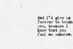 Iris by The Goo Goo Dolls. Probably my favorite song of all time.