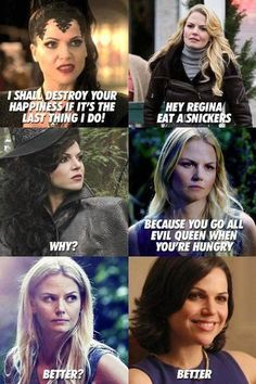 Better! If you don't want to be evil queen, eat snikers!!