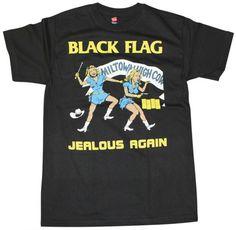 8d6df3de6 Black Flag Jealous Again Black T-Shirt Authentic S-2Xl Jealous, Tumblr,