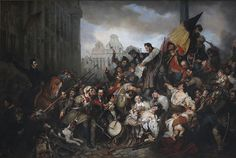 Egide Charles Gustave Wappers, Episode of the Belgian Revolution of 1830, 1834, Musée d'Art Ancien, Brussels a romantic vision by a Belgian painter