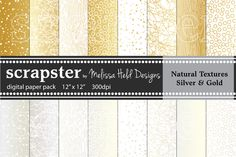 Check out Natural Textures: Silver & Gold by scrapster on Creative Market