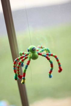 Beaded spider craft for kids