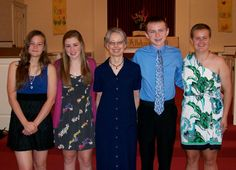 The confirmands with Pastor Peggy