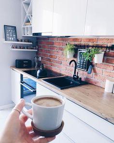 My minimalist yet warm Scandinavian Dining Room makeover Kitchen Furniture, Kitchen Interior, Kitchen Dining, Kitchen Decor, Dining Room, Small Space Interior Design, Interior Design Living Room, Küchen Design, House Design