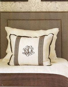 Monogram Pillows By Phoebe Howard