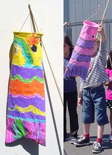 Art Projects for Kids: Japanese Wind Sock Puppet
