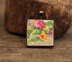 Royal Winton China Pendant with metal backing. by HammeredandFired