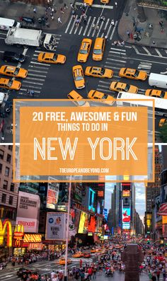 The complete guide to free and awesome #NYC http://toeuropeandbeyond.com/20-free-things-to-do-in-new-york-city/ #travel Guide New York, New York City Trip, Visit New York City, Travel To New York City, New York City Highline, New York City Eats, New York City December, New York Travel Guide, New York City Manhattan