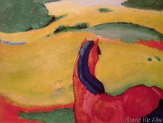 Franz Marc - Horse in a landscape, 1910
