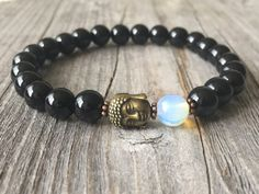 Gemstone bracelet men bracelet Buddha bracelet door KennlyDesign