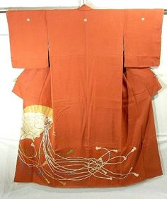 Elegant Fan Pattern Irotomesode Japanese Clothing, Japanese Outfits, Japanese Patterns, Japanese Fabric, Modern Kimono, Japanese Costume, Kimono Pattern, Japan Style, Kubota